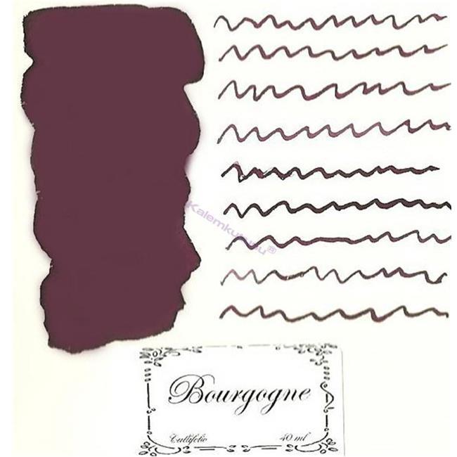 L'Artisan Pastellier Callifolio Dolmakalem Mürekkebi / 40 ml Cam şişe - Burgonya Bordosu