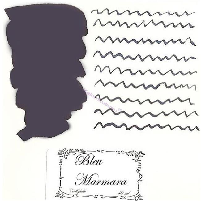 L'Artisan Pastellier Callifolio Dolmakalem Mürekkebi / 40 ml Cam şişe - Marmara mavi/siyah