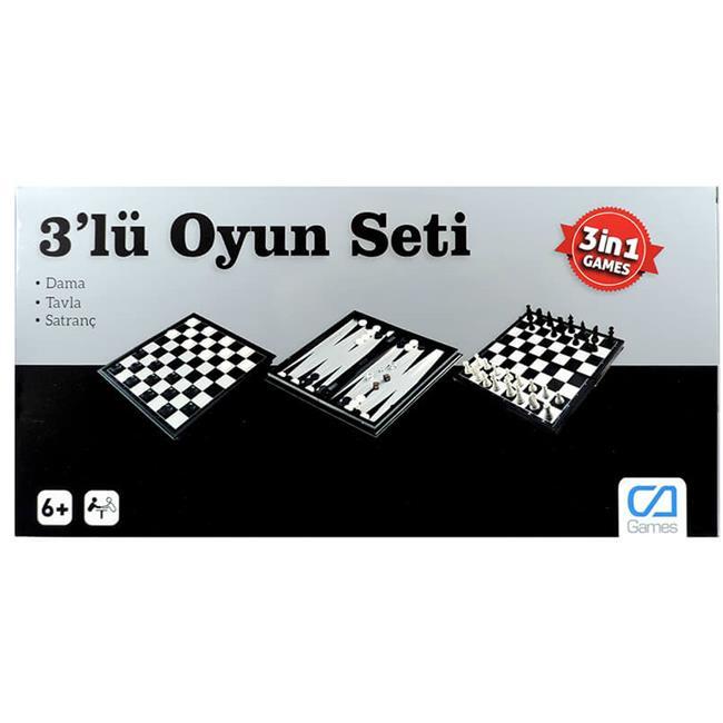 CA GAMES MANYETİK 3'LÜ OYUN SETİ 10002
