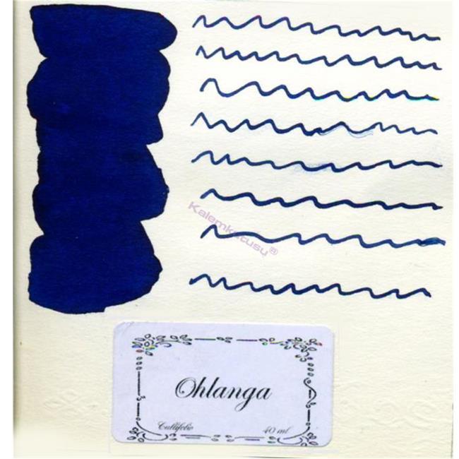 L'Artisan Pastellier Callifolio Dolmakalem Mürekkebi / 40ml Cam şişe - Ohlanga Nehri Mavisi