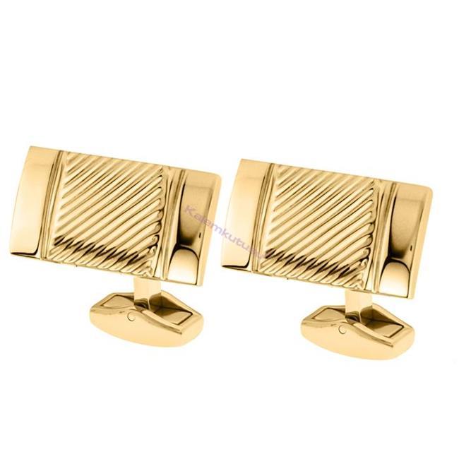 CROSS Apogee Gravür İşlemeli PVD Altın Kaplamalı Kol Düğmesi