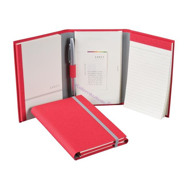 Arwey Lewitt Multi Notebook Çizgili+Çizgisiz Kalem Hediyeli 10x15.5cm - 5 Farklı Renk Seçeneği