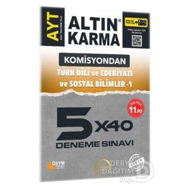 ALTIN KARMA / AYT KOMİSYONDAN TÜRK DİLİ 5X40 DENE  %30 İndirimli Fiyatlarla