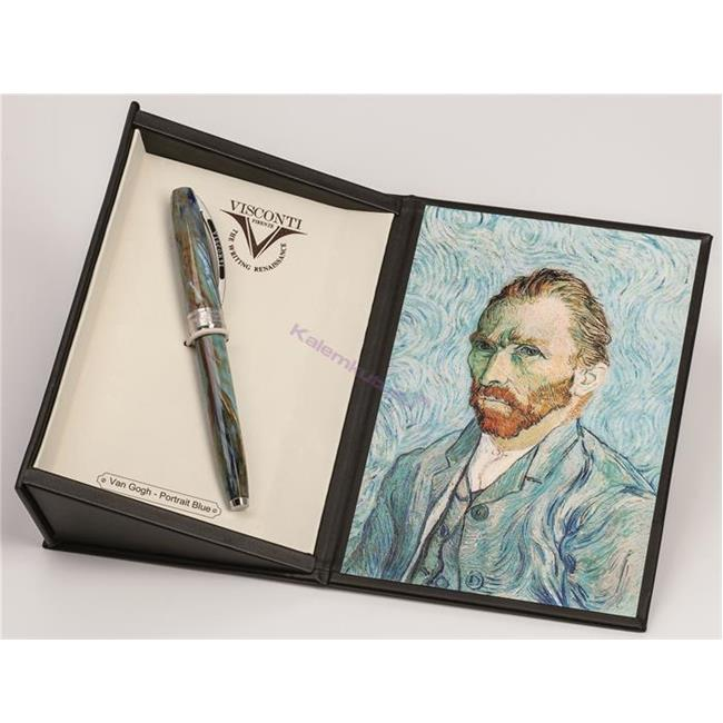 VISCONTI Van Gogh-Portrait Blue Vegetal Resin Dolma Kalem<br><img src='resim/mypenli.gif' border='0'/>
