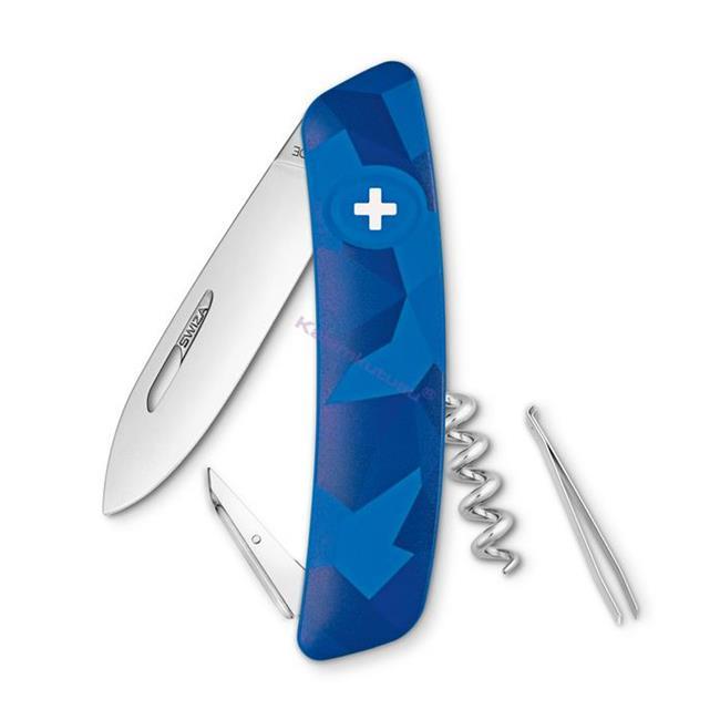 Swiza C01 Livor Blue Camouflage Yeni Nesil İsviçre Cep Çakısı 4 Fonksiyonlu