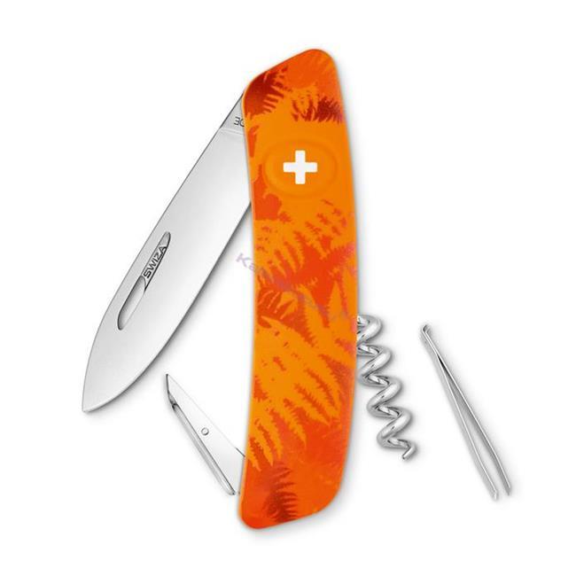 Swiza C01 Filix Camouflage Orange Yeni Nesil İsviçre Cep Çakısı 4 Fonksiyonlu
