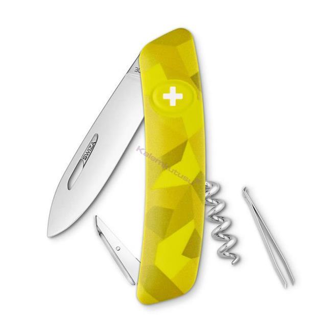 Swiza C01 Velor Yellow Camouflage Yeni Nesil İsviçre Cep Çakısı 4 Fonksiyonlu
