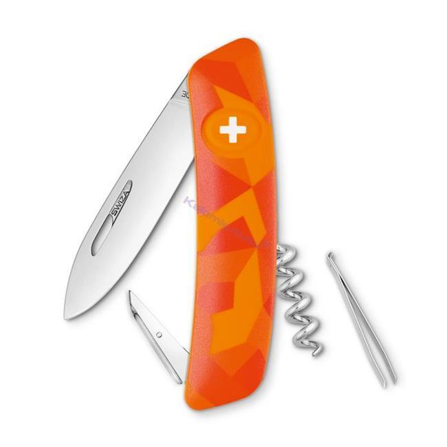 Swiza C01 Luceo Orange Camouflage Yeni Nesil İsviçre Cep Çakısı 4 Fonksiyonlu