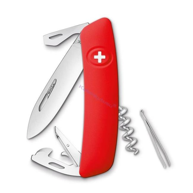 Swiza D03 Red Yeni Nesil İsviçre Cep Çakısı 6 Fonksiyonlu