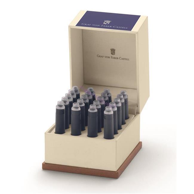 Graf von Faber-Castell Özel Saklama Kutulu Dolma kalem Kartuşu 20 adet - Kobalt Mavi