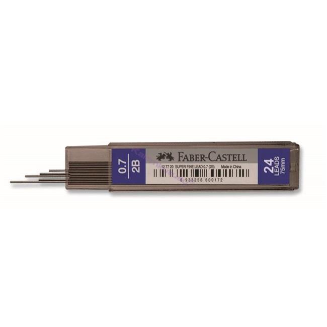 Faber-Castell S.Fine 75mm-24'lü KURŞUNKALEM UCU 0,7mm 2B
