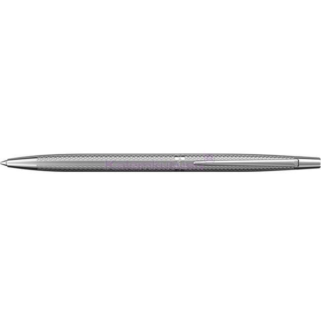 Scrikss Venüs711 BalıkSırtı Desen Parlak Krom İnce Tükenmez kalem   %30 İndirimli Fiyatlarla