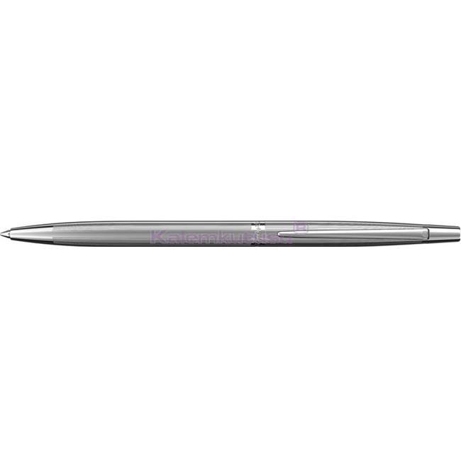 Scrikss Venüs711 Çizgi Desen Parlak Krom İnce Tükenmez kalem   %30 İndirimli Fiyatlarla