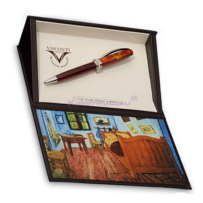 VISCONTI Van Gogh-Bedroom in Arles Vegetal Resin Tükenmez kalem<br><img src='resim/isyaz.gif' border='0'/><br><img src='resim/mypenli.gif' border='0'/>