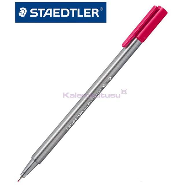 Staedtler 334-2 Üçgen Fineliner Kirmizi 0.3 Mm