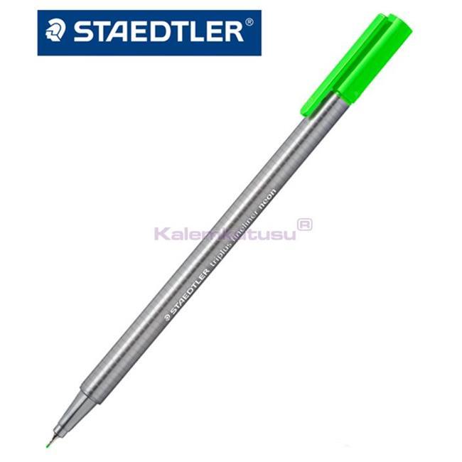 Staedtler 334-501 Üçgen Fineliner Neon Yeşil