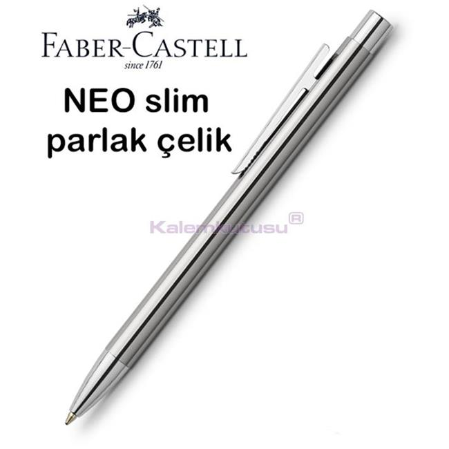 Faber-Castell Neo Slim Parlak Lake Çelik Tükenmez Kalem<br><img src='resim/isyaz.gif' border='0'/>