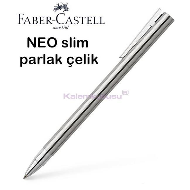 Faber-Castell Neo Slim Parlak Lake Çelik Roller Kalem  %30 İndirimli Fiyatlarla
