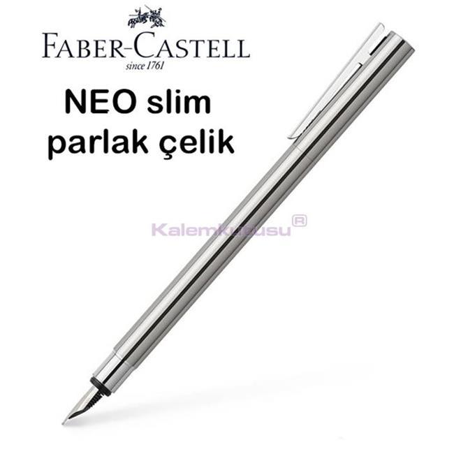 Faber-Castell Neo Slim Parlak Lake Çelik Dolma Kalem<br><img src='resim/isyaz.gif' border='0'/>