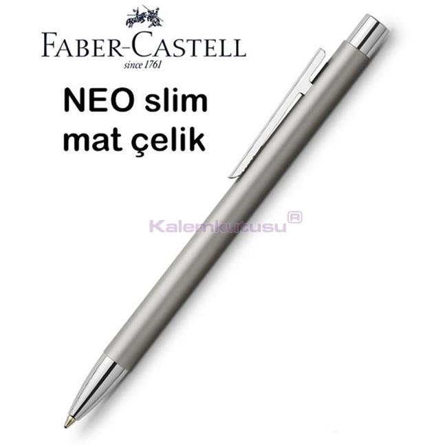 Faber-Castell Neo Slim Mat Lake Çelik Tükenmez Kalem  %30 İndirimli Fiyatlarla