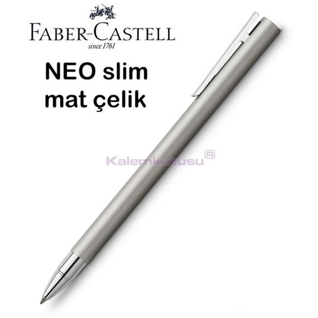 Faber-Castell Neo Slim Mat Lake Çelik Roller Kalem<br><img src='resim/isyaz.gif' border='0'/>