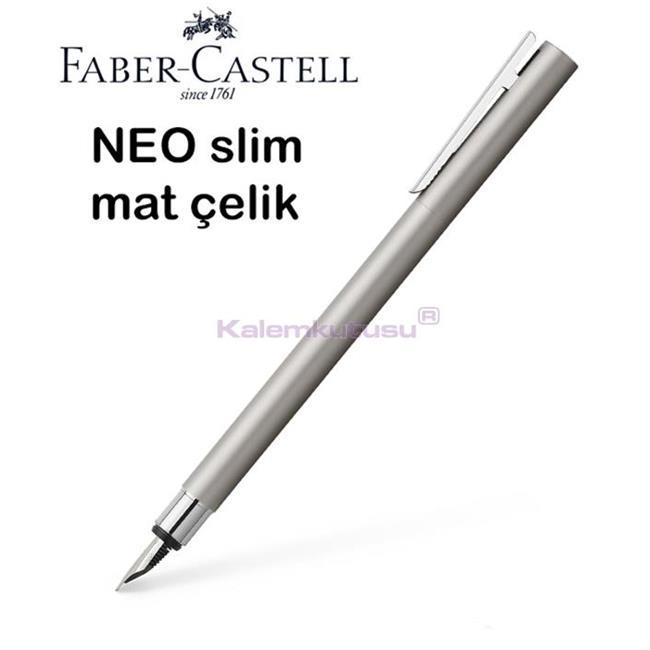 Faber-Castell Neo Slim Mat Lake Çelik Dolma Kalem<br><img src='resim/isyaz.gif' border='0'/>