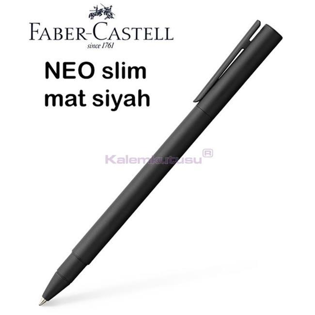 Faber-Castell Neo Slim Mat Siyah Lake Çelik Roller Kalem  %30 İndirimli Fiyatlarla
