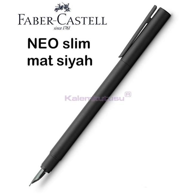 Faber-Castell Neo Slim Mat Siyah Lake Çelik Dolma Kalem<br><img src='resim/isyaz.gif' border='0'/>