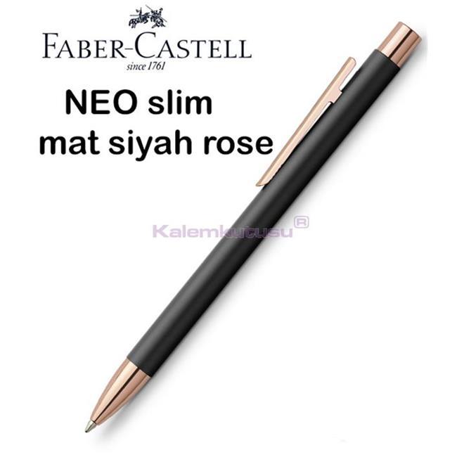 Faber-Castell Neo Slim Mat Siyah/Rose Gold Tükenmez Kalem<br><img src='resim/isyaz.gif' border='0'/>