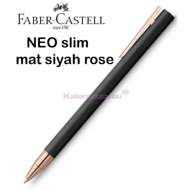 Faber-Castell Neo Slim Mat Siyah Rose Gold Roller Kalem  %30 İndirimli Fiyatlarla