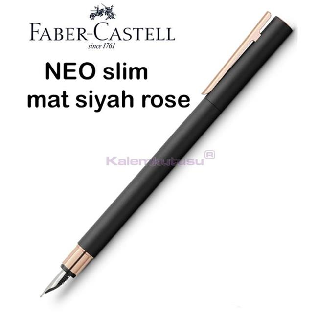 Faber-Castell Neo Slim Mat Siyah/Rose Gold Dolma Kalem<br><img src='resim/isyaz.gif' border='0'/>