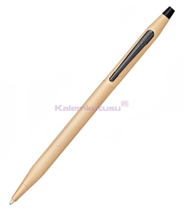 Cross Classic Century Brushed Rose-Gold PVD Black Tükenmez Kalem<br><img src='resim/isyaz.gif' border='0'/>