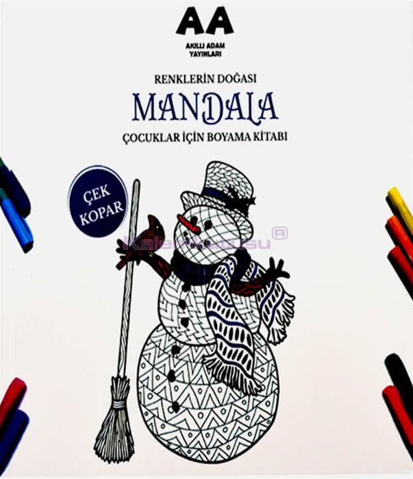 Mandala Renklerin Doğası Çocuklar İçin Boyama Kitabı Akıllı Adam Yayınları %30 İndirimli Fiyatlarla