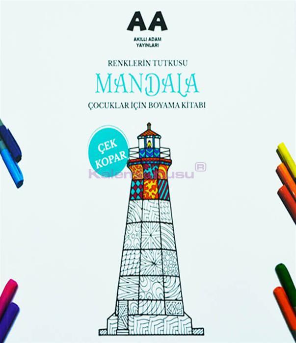 Mandala Renklerin Tutkusu Çocuklar İçin Boyama Kitabı / Akıllı Adam Yayınları %30 İndirimli Fiyatlarla