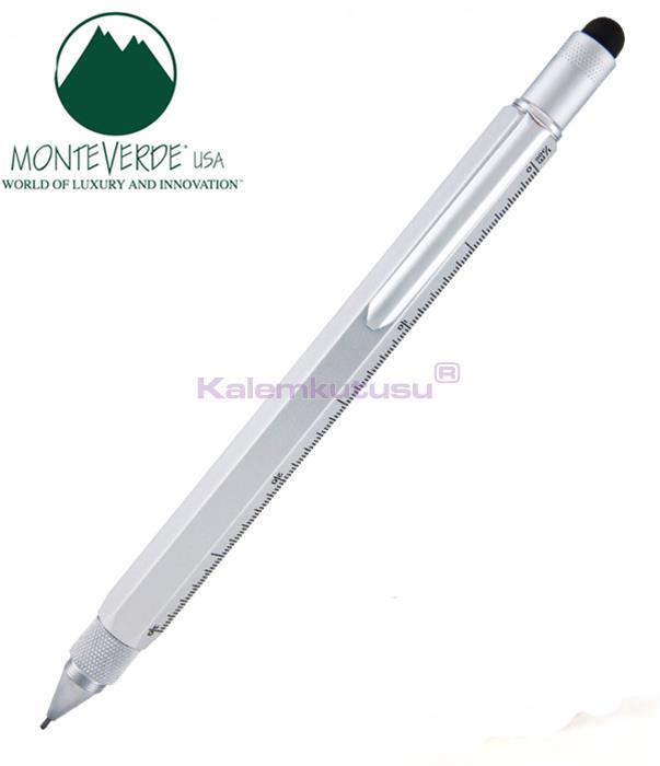 MONTEVERDE U.S.A Tool Pencil 0.9 Versatil+Stylus+2 Tornavida+4 Cetvel Gümüş Gri %30 İndirimli Fiyatlarla