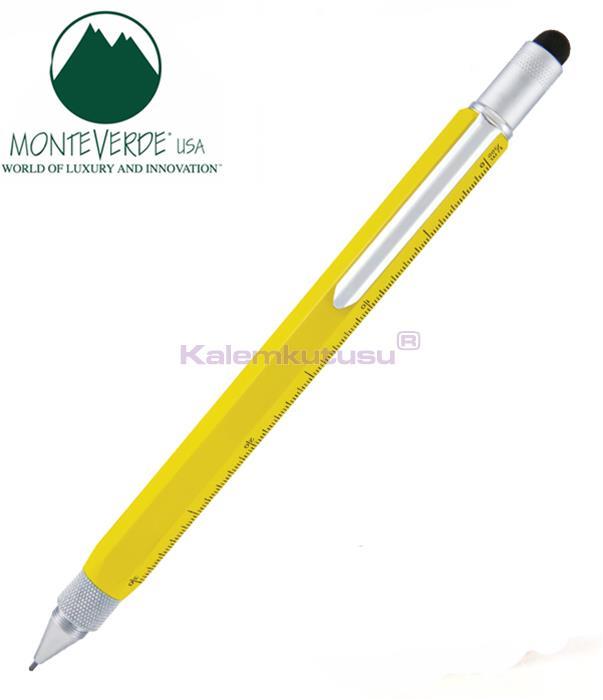 MONTEVERDE U.S.A Tool Pen 0.9 Versatil+Stylus+2 Tornavida+4 Cetvel Sarı %30 İndirimli Fiyatlarla