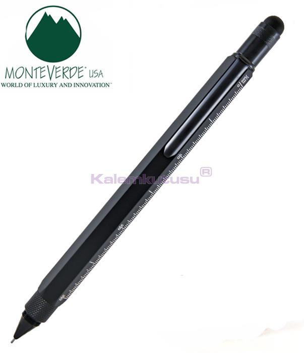 MONTEVERDE U.S.A Tool Pen 0.9 Versatil+Stylus+2 Tornavida+4 Cetvel Siyah %30 İndirimli Fiyatlarla