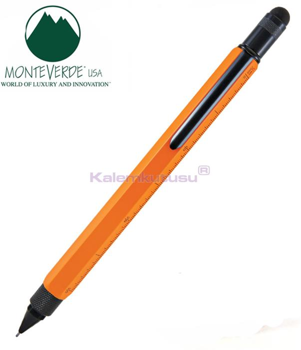 MONTEVERDE U.S.A Tool Pen 0.9 Versatil+Stylus+2 Tornavida+4 Cetvel Turuncu %30 İndirimli Fiyatlarla