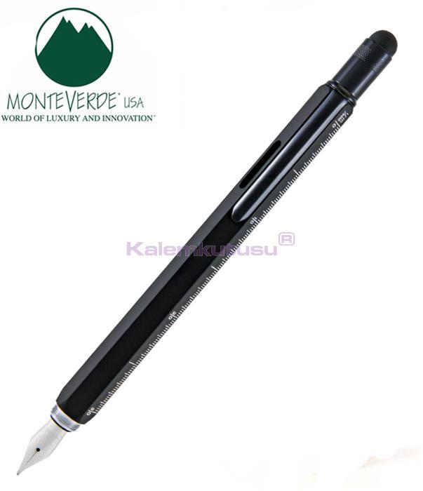 MONTEVERDE U.S.A Tool Dolma Kalem+Stylus+2 Tornavida+4 Cetvel+Su Terazisi Siyah %30 İndirimli Fiyatlarla