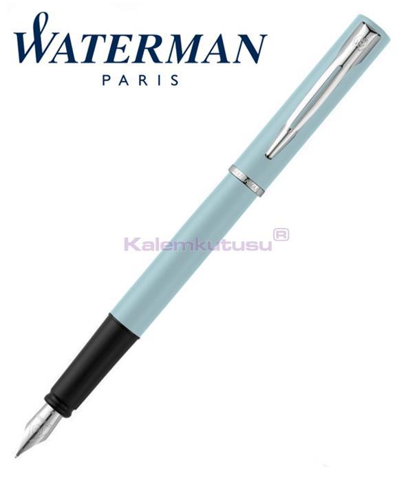 Waterman Allure Pastel Mavi/Paladyum Dolma Kalem<br><img src='resim/isyaz.gif' border='0'/>