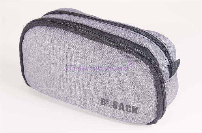 B-Back Çift Taraflı Fonksiyonel Kalem Çantası - Gri