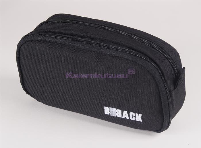 B-Back Çift Bölmeli Fonksiyonel Kalem Çantası - Siyah