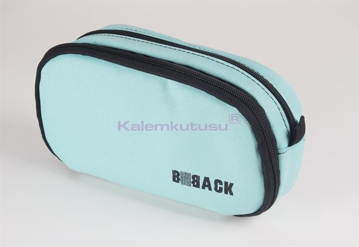 B-Back Çift Bölmeli Fonksiyonel Kalem Çantası - Turkuaz
