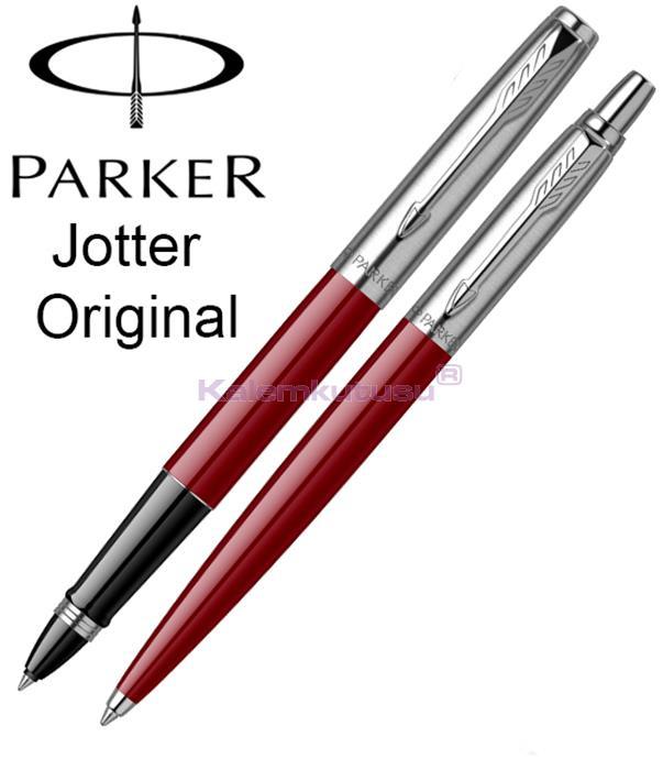 Parker Jotter Original ABS Plastik/Çelik Roller Kalem + Tükenmez Kalem - Bordo<br><img src='resim/isyaz.gif' border='0'/>