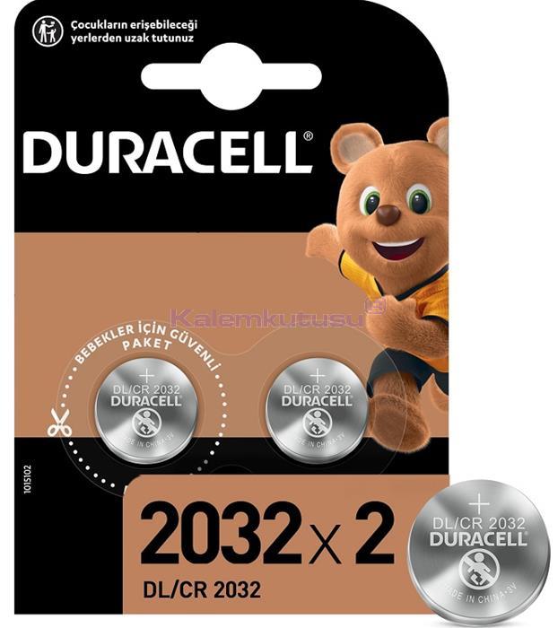 DURACELL PİL DÜĞME 3V 2 Lİ 2032
