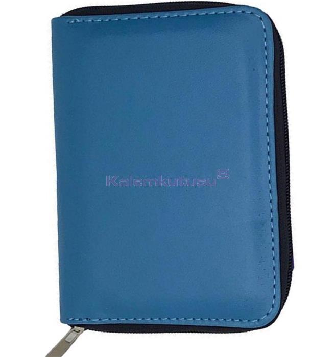 CARENS 6'lı Kalem Çantası ve Notluk Açık Mavi