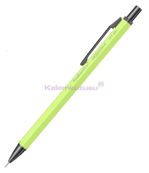 Scrikss HeXagon-R 0.7 Mekanik Kurşun Kalem Neon Sarı %30 İndirimli Fiyatlarla