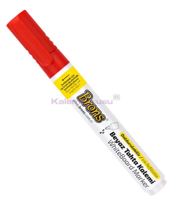Brons BR-958  Kırmızı Doldurulabilir Tahta Kalemi