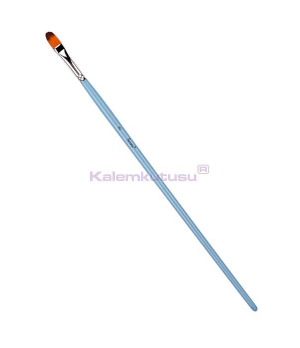 Brons BR-854 Sentetik Yağlı ve Akrilik Boya Fırçası Uzun Saplı No 8