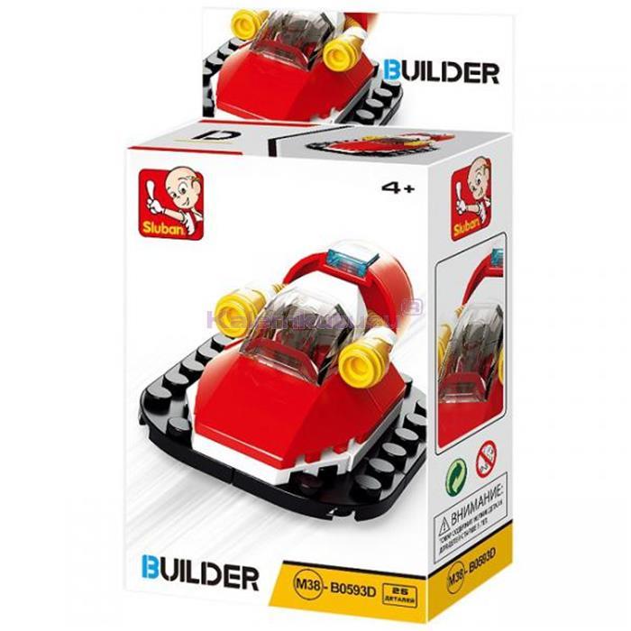 SLUBAN BUILDER FIRE B05393D KURTARMA BOTU 25 PARÇA LEGO